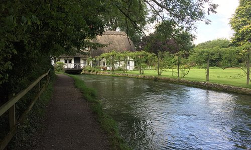 Mill house garden running along the river