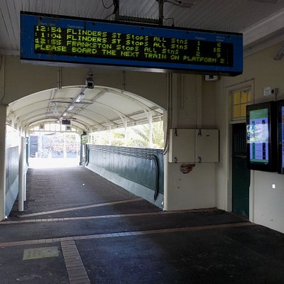 Ticket area and overbridge