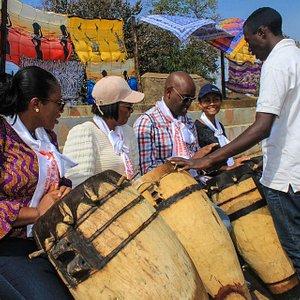 Zambian traditional drumming workshops at Lusaka Experience