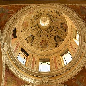 Il soffitto della cappella