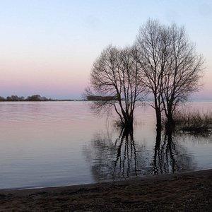Blick über den Strand Richtung Ilmen See