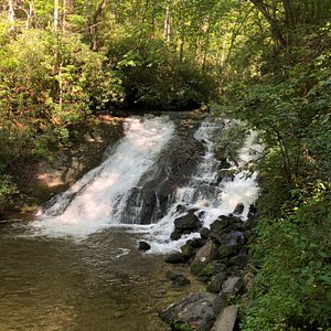 Indian Creek falls - Nice pool at the bottom.  A Blue Heron was fishing the day we visited