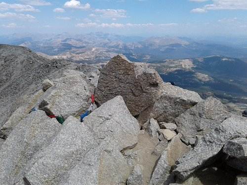 Summit of Mt. Massive provides spectacular 360 degree view!