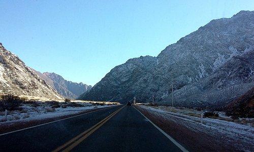 La ruta hacia Penitentes en la Alta Montaña