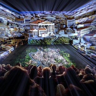 La sala immersiva che racconta la storia di Roma