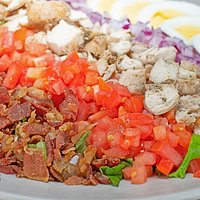 The Cobb Salad is filling and a great combination of fresh ingredients!