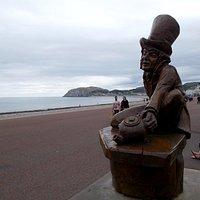 The Mad Hatter Statue on Llandudno Promenade