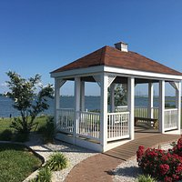 Gazebo along side of the bay