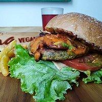 Hamburguesa de la iniciativa #veganburgercolombia