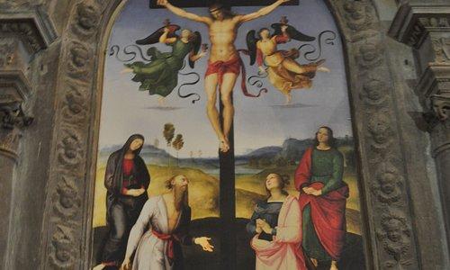 célèbre tableau de Raphael aujourd'hui hui à Londres.