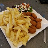 Delicious Scampi and Chips
