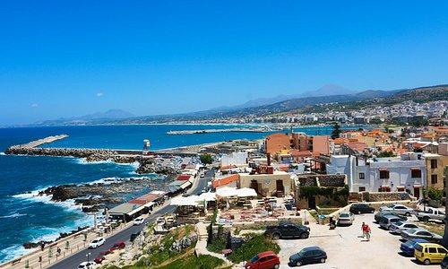 widok z twierdzy Rethymnon