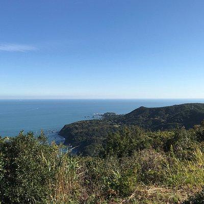 伊勢志摩国立公園の展望台からの眺め