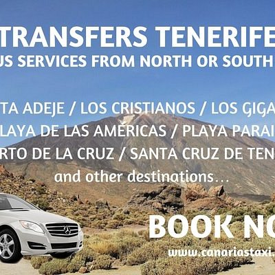 Book your transfer service in Tenerife with CanariasTaxi.com and travel quiet and comfortable.