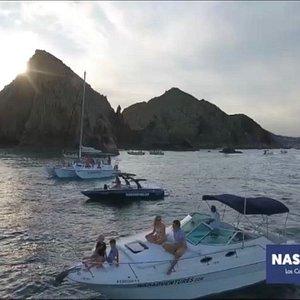 our 3 boats Nas (Sea Ray 30'), Kai (Malibu 23´) and Saga Sailboat (Trimaran 38´)