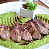 Duck and peas puree