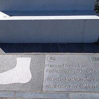 Commemoration of the birth of Terry Jones on Colwyn Bay Promenade