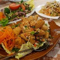 Calamari Salt and Pepper, Pork Siam Yum and a Seafood Pad Thai