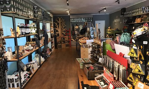 Shop is about 160m2 with loads of gifts to buy