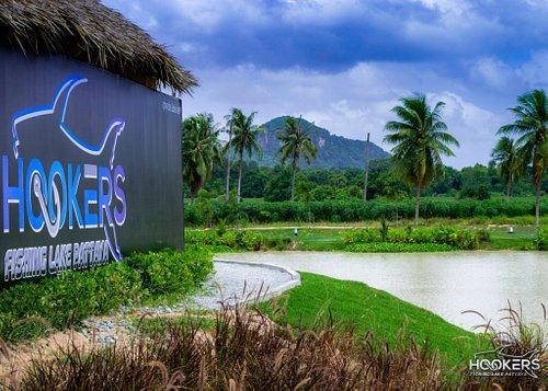 Lush tropical surroundings.