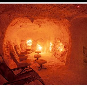 Come in and relax in our purpose built Salt Cave.  Were talking Wow  Factor