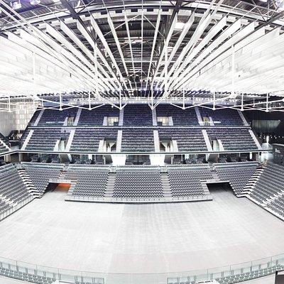 Pista principal del pabellón Navarra Arena