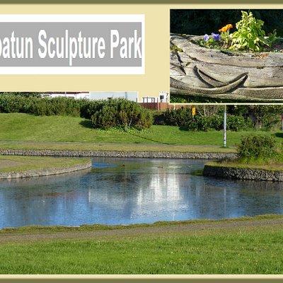 Vioistaoatun Sculpture Park neben Lava Hostel