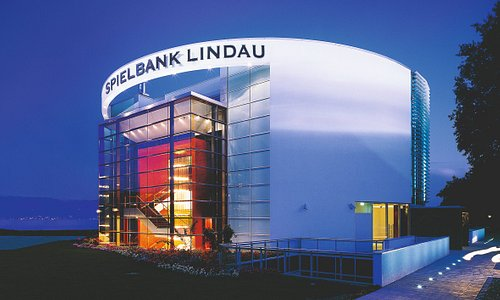 Der Blick auf die Spielbank Lindau. Herzlich willkommen!