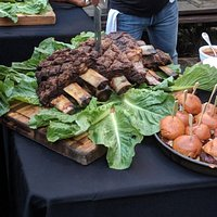 Beef ribs and sliders