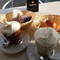 granita cioccolato e panna granita caffe' e panna