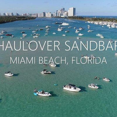Worlds famous Haulover Sandbar in North Miami