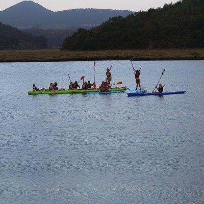 kayak e SUP tour no rio Mira