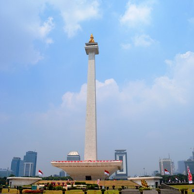 MONAS -- a famous marker in the middle of Merdeka Square in Jakarta
