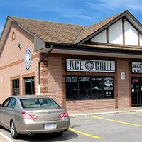 Welcome to Ace Grill. Our menu features Fish and Chips, Burgers, Greek Souvlaki, Tasty Sandwiche