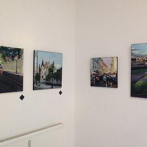 Exhibition inside gallery