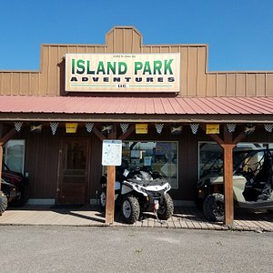 The store front with quads and 4 wheelers for rent or to purchase