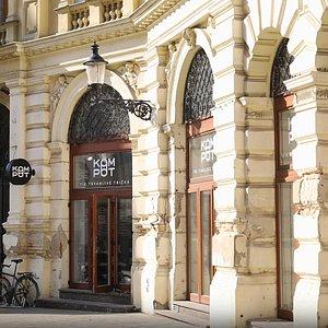 Kompot shop in city center