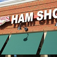 Outside sign of the Edwards Ham Shop