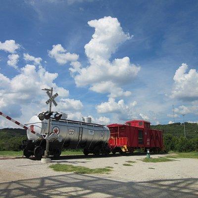 Tank Car-Caboose-Rail Crossing