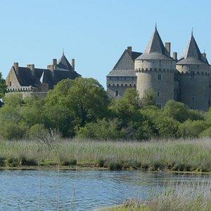il castello visto dalla costa