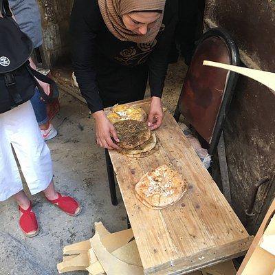 Sampling some great Palestinian breads