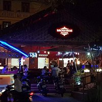 Backstage Bar & Grill by night