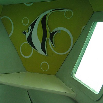 Inside of Coral reef safari ship (Semi-submarine)