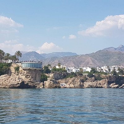 Nerja from the sea.