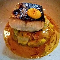Hake, spiced crab butter