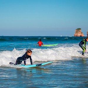 Hendaye, la piste verte du surf