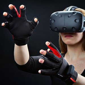 Wear our VR gloves and see your hands in VR. Gloves let you touch and feel the virtual objects.