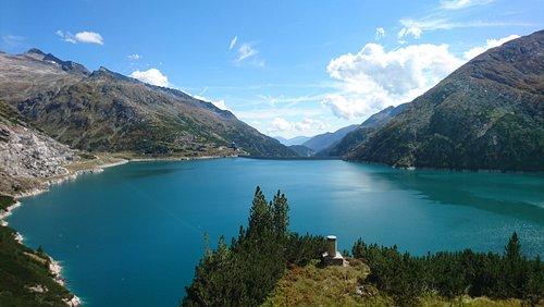 View towards dam