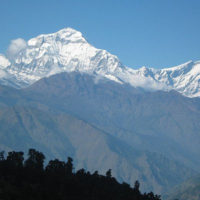 Mountain view from poon hill. people can visit any time this trail.