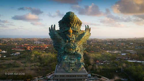 The Garuda Wisnu Kencana from above